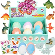 Bath Bombs for Kids with Surprise Toys Inside, Dinosaur Bath Bombs Gift Set (XL Size 6 Pack)