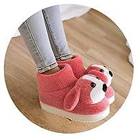 暖かい滑り止め 子供 かわいいスリッパ メンズ 室内 厚い 綿スリッパレディース 冬,21〜22(3 16cm),レッド