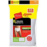 Hanes 2252P8 Men's No Ride Up Brief 8-Pack (Includes 1 Free Bonus Brief)