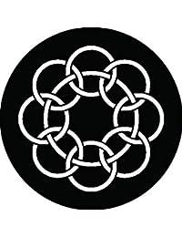 家紋シール 釜敷き九曜紋 布タイプ 直径40mm 6枚セット NS4-0385