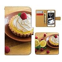 (ティアラ) Tiara AQUOS R SH-03J スマホケース 手帳型 お菓子 手帳ケース カバー スイーツ フルーツ いちご ケーキ タルト F0263020095001
