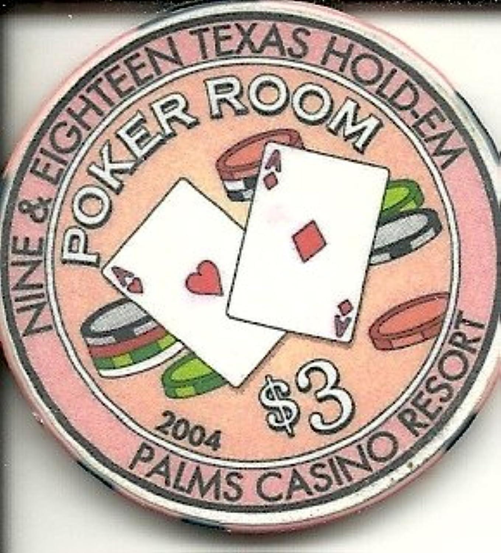 $ 3 Palms Poker Room RAREラスベガスカジノチップ