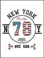 【ニューヨーク アメリカ 星条旗】 余白部分にオリジナルメッセージお入れします!ポストカード・はがき(白背景)
