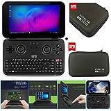 GPD WIN 黒(アルミ版)+スリムハードポーチ+液晶保護フィルム (Windows10 /5.5inch /IPS液晶 /Intel Atom X7 Z8750) (4GB/64GB)(USB Type-C /USB3.0 /HDMI /Bluetooth4.1) (タッチパネル /Gorilla Glass 3 /Gamepad Tablet PC /UMPC /8750)(ブラック) [並行輸入品]