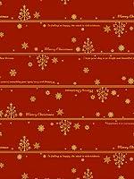 タカ印 クリスマス包装紙 10枚ロール ネージュ赤 全判 49-4525