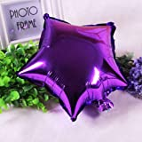 FidgetGear 5/10pcs 10'' Five-pointed Star Helium Foil Balloon Party Wedding Birthday Decor Purple 1pc