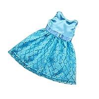 Baoblaze 18インチアメリカガールドール人形のため スパンコール ノースリーブドレス スカート 服 全4色 - 青