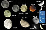 Lunar phases January Month 2018 (English Edition)