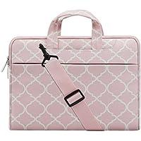 MOSISO Laptop Shoulder Bag Canvas Geometric Pattern Briefcase Sleeve