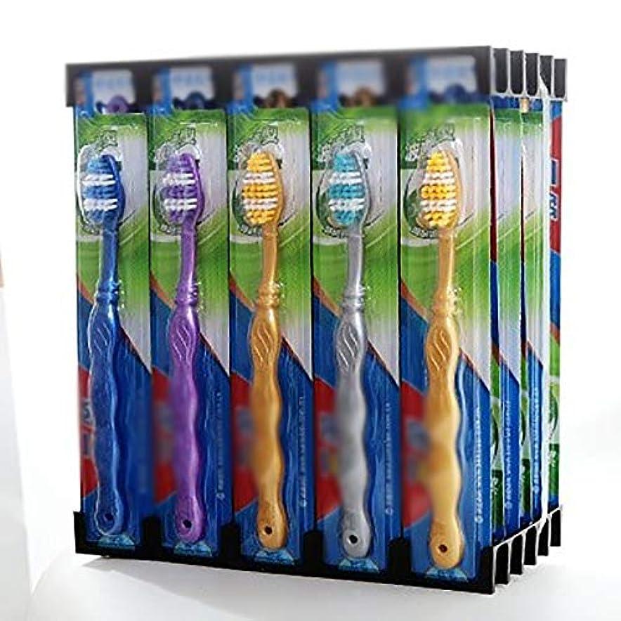 爬虫類偽装するバット歯ブラシ 使用可能なスタイルの3種類 - 30パックは、敏感な歯のために、超柔らかい歯ブラシの歯ブラシを一括します HL (色 : B, サイズ : 30 packs)