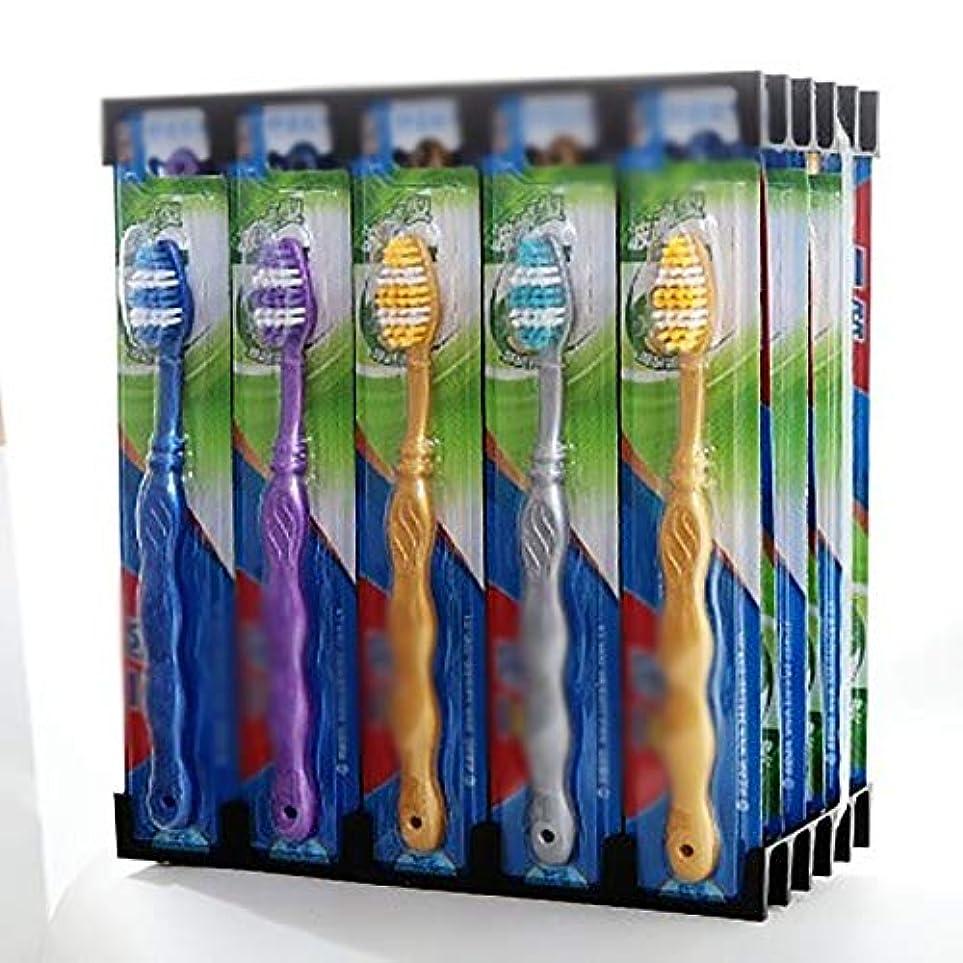 バックアップゆり自慢歯ブラシ 使用可能なスタイルの3種類 - 30パックは、敏感な歯のために、超柔らかい歯ブラシの歯ブラシを一括します HL (色 : B, サイズ : 30 packs)