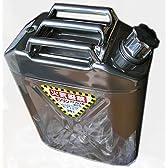 国産品・縦型ステンレス製 ガソリン携行缶 ジェリ缶 20リットル