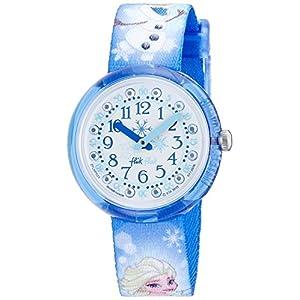 [フリック フラック]FLIK FLAK キッズ腕時計 DISNEY アナと雪の女王 FROZEN ELSA &OLAF (ディズニー フローズン エルサ&オラフ) ZFLNP023 ガールズ 【正規輸入品】