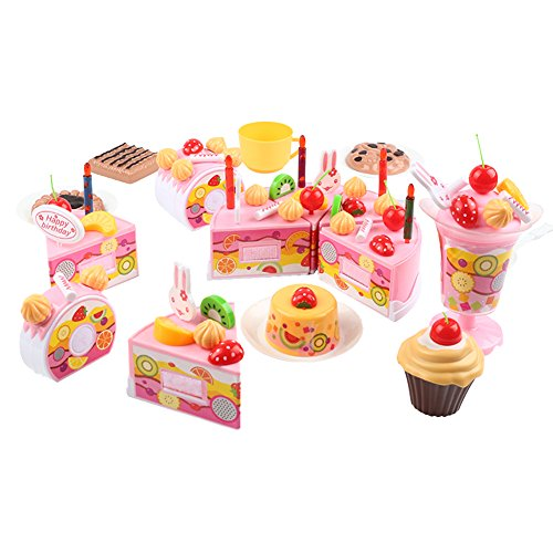 QIAONAI おままごとセット DIY バースデーケーキ ...