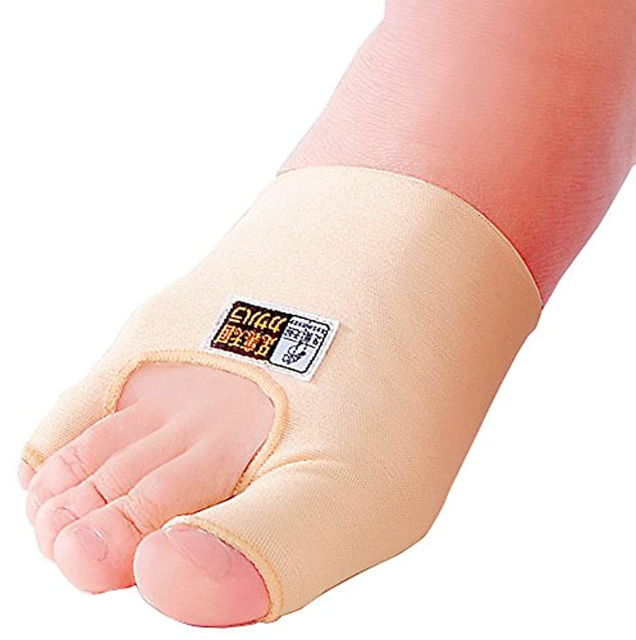 スカーフ意味するワイド外反母趾?内反小指シルクサポーター<右足用>