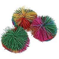 toymytoy Bouncy Balls Monkey Stringyボールソフトトイ3パック
