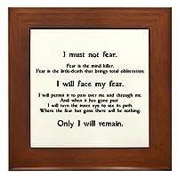CafePress–Litany Against Fear–フレーム付きタイル、装飾タイル壁Hanging