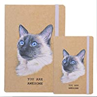 2 Pack Notebook Journals for Travelers Students and Office Writing Diary Subject Notebooks Planner with Lined Paper College Ruled 192 Pages 96Sheets A5 Size & A6 Size Travel Journal Set A1 [並行輸入品]