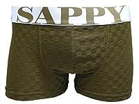 (サピー)SAPPY モザイクボクサー/D-302/ブラウン ボクサーパンツ LL
