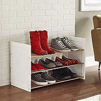 TLMY 靴のラックを積み重ねることができる家庭用防塵ストレージ多層鉄製シューズラックの簡単なアセンブリ 靴箱 (色 : 白, サイズ さいず : 81cm*34cm*40cm)
