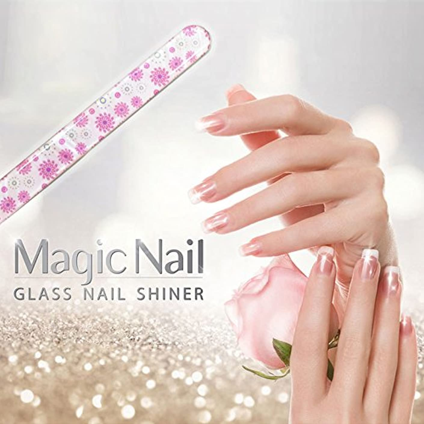 束流体トイレエッサンテ(Essante) マジックネイル magic nail マニキュアを塗ったようなツヤ、輝きが家で誰でも簡単に出来る glass nail shiner ガラスネイルシャイナー おしゃれなデザイン つめやすり ...