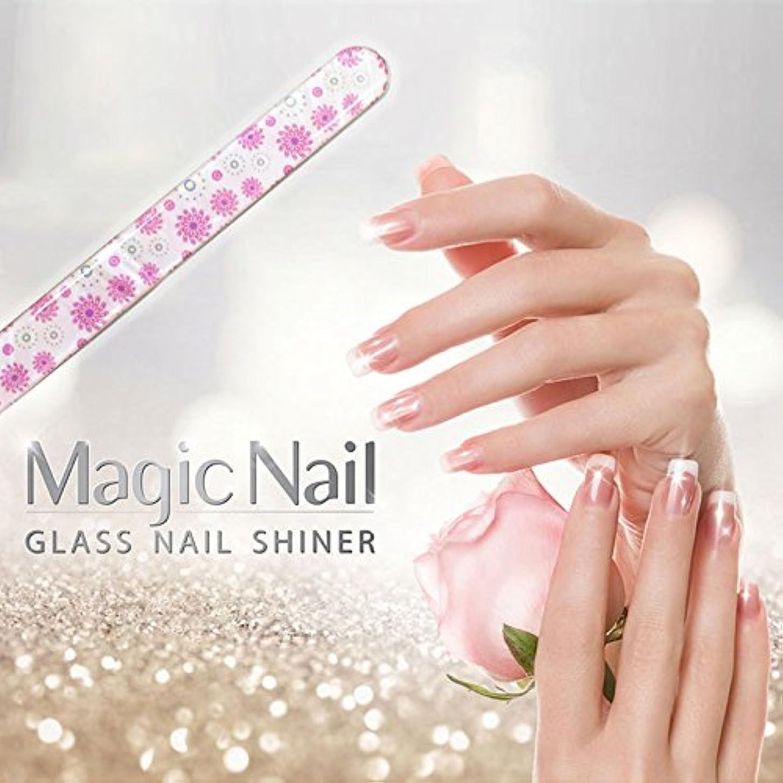く側面会社エッサンテ(Essante) マジックネイル magic nail マニキュアを塗ったようなツヤ、輝きが家で誰でも簡単に出来る glass nail shiner ガラスネイルシャイナー おしゃれなデザイン つめやすり ...