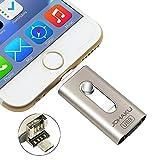 [JOHAKU] iPhone USBメモリ 64GB フラッシュドライブ 容量拡張 3 in 1Usb フラッシュドライブ 変換 メモリ Android スマホ ライトニング Otg Hub Flash Drive