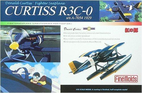 紅の豚 カーチスR3C-0 非公然水上戦闘機 (1/72スケール塗装済半完成キット)