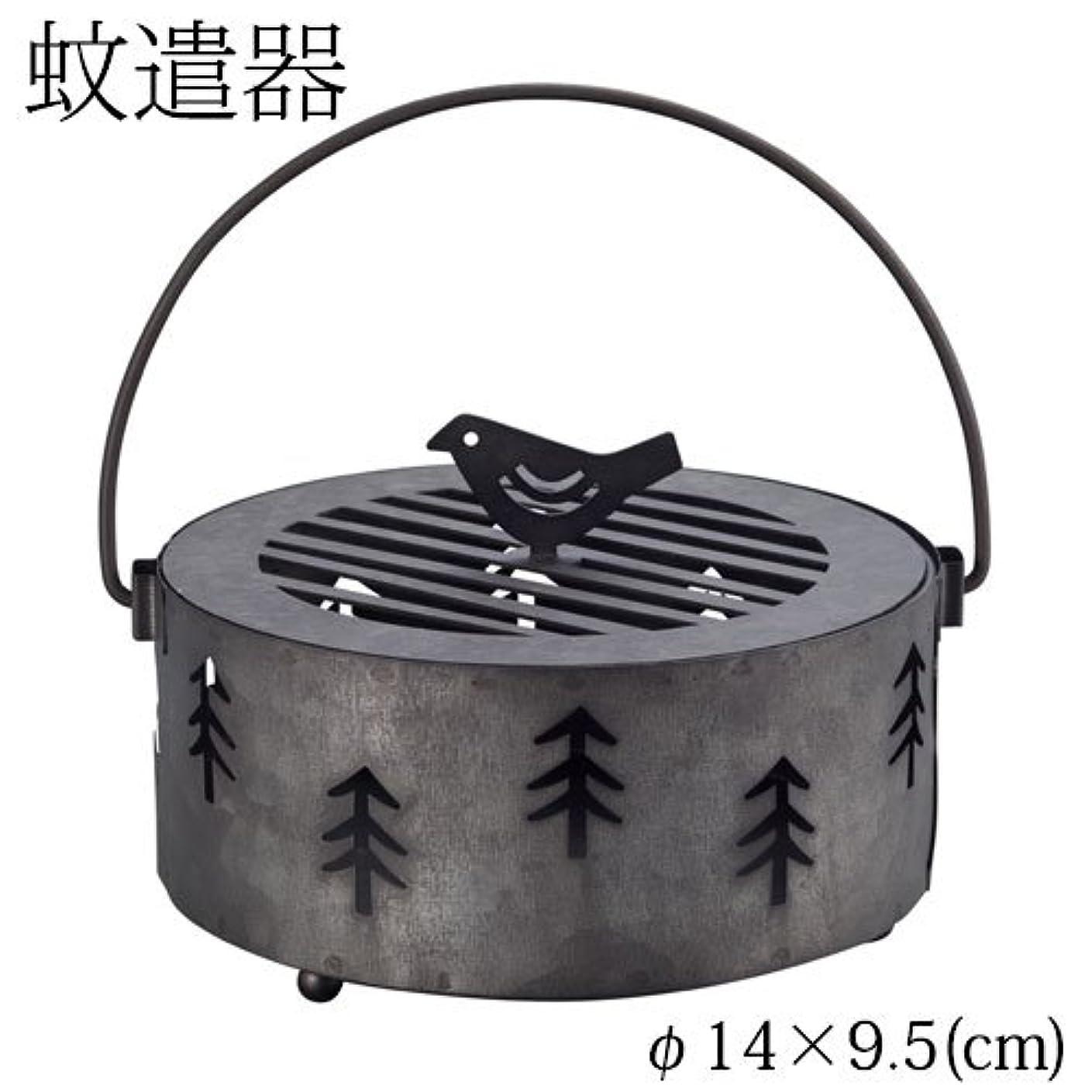 宙返り熟考する紳士気取りの、きざなDECOLE 蚊遣り箱 森 (ZBZ-37414) スチール製蚊遣器 Kayari of Steel