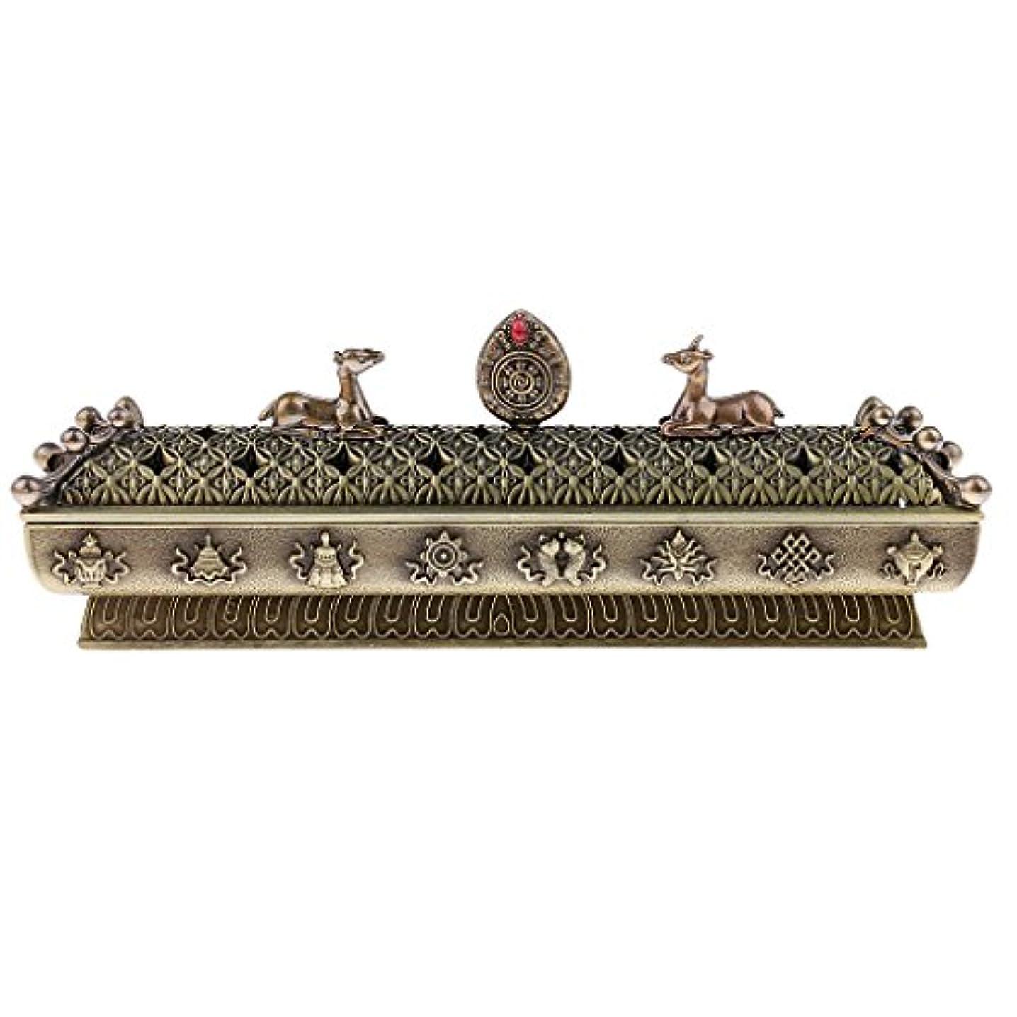 相関するポルトガル語チューブFenteer 仏教 香炉 バーナー コーンホルダー ボックス ホーム オフィス テーブル 全3色  - ブロンズ