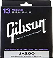 Gibson ギブソン アコースティックギター弦 J-200 Deluxe Phosphor Bronze Acoustic Guitar Strings [SAG-J200M Medium]