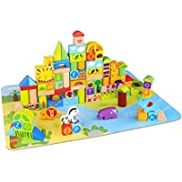 Tooky Toy Jungle Block Children Toys (135 Piece)