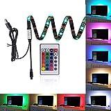 Kohree 90cm LED HDTVバックライト テープライト RGBコントローラー付き 疲れ目対策 視力保護(ON/OFFスイッチ)フラットテレビLCD/PC
