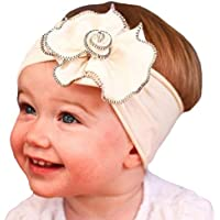 COODIO Cute Baby Girl Flower Shape Headband Cotton Cloth Decoration Headwear Hair Accessories for Fashion Jewelry