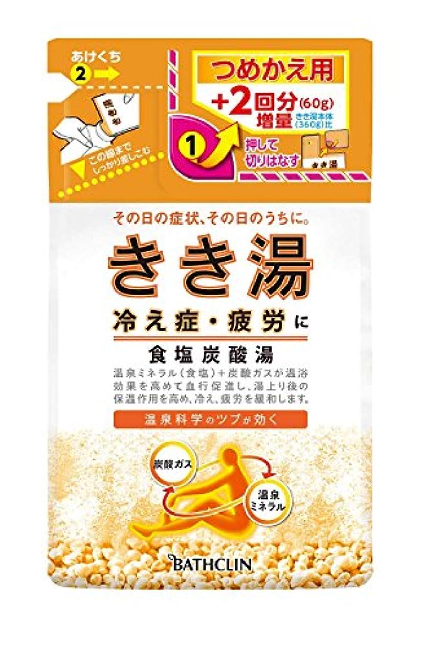 細断の頭の上メンターきき湯 食塩炭酸湯 つめかえ用 420g 入浴剤 (医薬部外品)