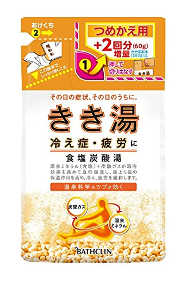コールドフィード支配的きき湯 食塩炭酸湯 つめかえ用 420g 入浴剤 (医薬部外品)