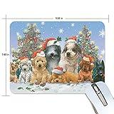 マウスパッド クリスマス 子犬 風花 疲労低減 ゲーミングマウスパッド 9 X 25 厚い 耐久性が良い 滑り止めゴム底 滑りやすい表面 画像