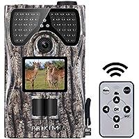 【改良版】【日本限定モデル】PRIKIM トレイルカメラ 人感センサー 防犯カメラ 赤外線LEDライト48個搭載 暗視カメラ 狩猟モニターカメラ 1200万画素 1080P 動体検知カメラ120°検出範囲 90度回転レンズ 防水カメラ trail camera 日本語説明書付き