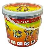 マグプレイヤー MAGPLAYER 46ピース 基本パーツ一式 収納バケツセット 車輪パーツ 収納バケツ付き マグフォーマー MAGFORMERS マグネットブロック 創造力を育てる知育玩具 想像力 磁石 パズル ブロック 【46ピース】