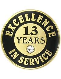 PinmartのゴールドメッキExcellence inサービスエナメルラペルピンW /ラインストーン – 13歳 10 ゴールド