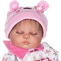 SanyDoll Rebornベビー人形ソフトSilicone 22インチ55 cm磁気Lovely Lifelike Cute Lovely Baby b0763l8h1 W