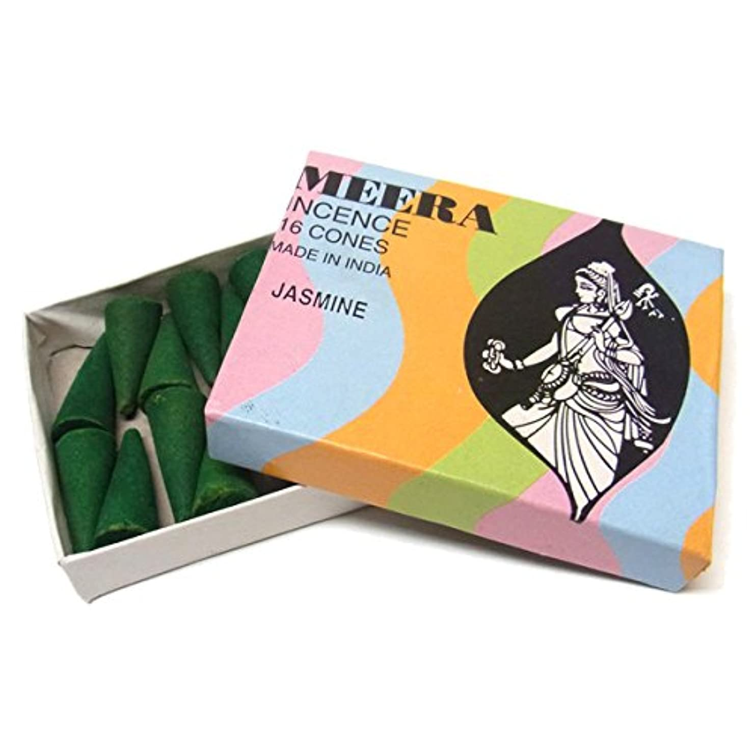 成長するマイナスアルバムジャスミンのお香(MEERA) コーン型お香 インド香