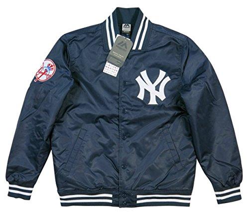 (マジェスティック)MAJESTIC 当店別注モデル ニューヨーク ヤンキース ナイロンサテン スタジャン XXL(2XL) NAVY(ネイビー)