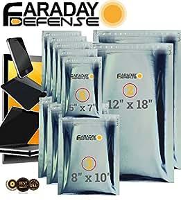 ファラデーケージEMPバッグ10pc–ミリタリーグレード、Uber Thick–Solar Flareバッグ、2-metal Layer、fully-specced、頑丈electro-shieldingキットXLラップトップ/ノートブック