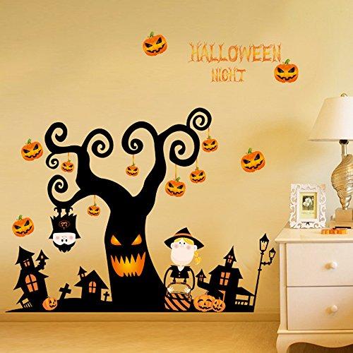 KIMIN ハロウィン ウォールステッカー 装飾 パーティー グッズ 壁紙シール 壁飾り 装飾 3D...