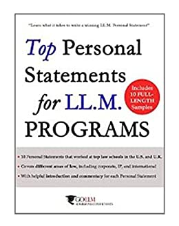 Tax llm personal statement