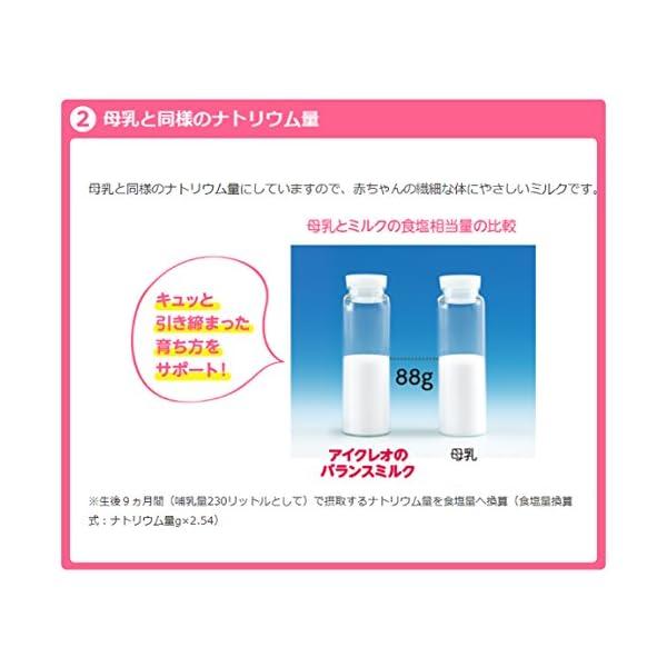 アイクレオのバランスミルク 800g×2缶セッ...の紹介画像6