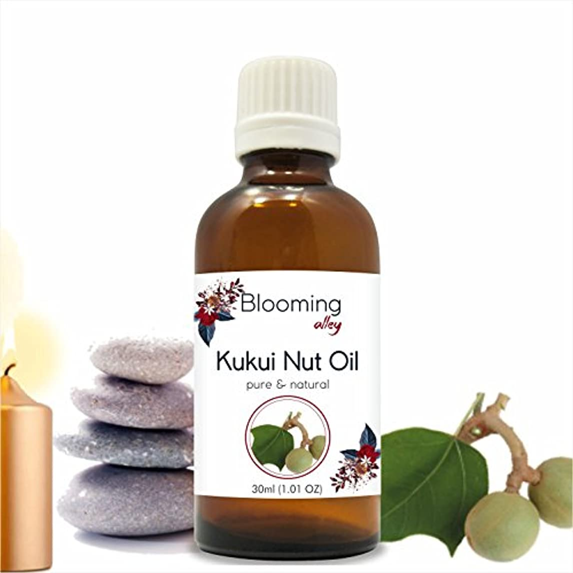社説クレーターアンビエントKukui Nut Oil (Aleurites Moluccans) Carrier Oil 30 ml or 1.0 Fl Oz by Blooming Alley