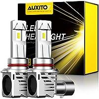 【2020最新 業界初モデル正規品】AUXITO 9005 HB3 LEDヘッドライト 車用 2年品質保証 新基準車検対応高品質LEDチップ搭載 驚異の純正ハロゲンサイズ登場 99%車種対応 高輝度12000LM(6000LM*2) 6500K 12V車対応(ハイブリッド車・EV車対応) 定電流回路搭載 長寿命 高速回転冷却ファン付け 放熱性抜群 静音 瞬間起動 光軸調整フリー 2個入り ホワイト-M3HB3