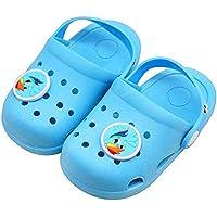 eccbox Kids Boys Girls Comfort Unicorn Sandals Lightweight Slip On Water Shoes Pool Garden Clogs Cute Summer Beach Slippers for Toddler